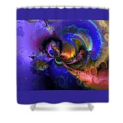 Color Gone Amok Shower Curtain by Claude McCoy