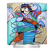 Color In Motion Shower Curtain by Anthony Falbo