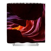 Color Ribbons Shower Curtain by Chad Dutson