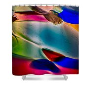 Color Wall Shower Curtain by Omaste Witkowski