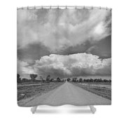 Colorado Country Road Stormin Skies BW Shower Curtain by James BO  Insogna
