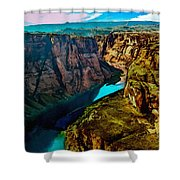 Colorado River Grand Canyon Shower Curtain by Bob and Nadine Johnston