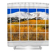 Colorado Rocky Mountain Autumn Pass White Window View  Shower Curtain by James BO  Insogna