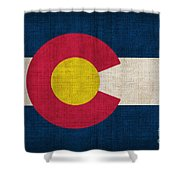 Colorado State Flag Shower Curtain by Pixel Chimp