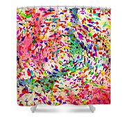 Colorful Abstract Circles Shower Curtain by Susan Leggett