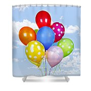 Colorful Balloons With Blue Sky Shower Curtain by Elena Elisseeva