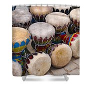 Colorful Congas Shower Curtain by Carlos Caetano