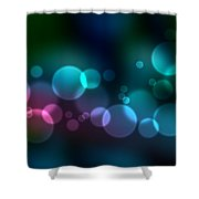 Colorful Defocused Lights Shower Curtain by Aged Pixel