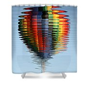 Colorful Hot Air Balloon Ripples Shower Curtain by Carol Groenen