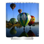 Colorful Landings Shower Curtain by Mike  Dawson