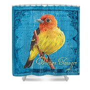 Colorful Songbirds 4 Shower Curtain by Debbie DeWitt