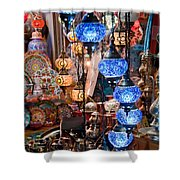 Colorful Traditional Turkish Lights  Shower Curtain by Leyla Ismet