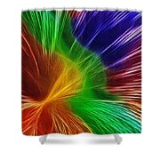 Colors Lines And Textures Shower Curtain by Kaye Menner