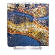 Colors On Rock I Shower Curtain by Heiko Koehrer-Wagner