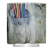 Coloured Pencils Shower Curtain by Joana Kruse