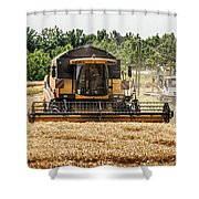 Combine Harvester Shower Curtain by Georgia Fowler