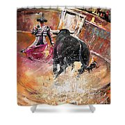 Come If You Dare Shower Curtain by Miki De Goodaboom