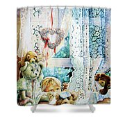 Come Out And Play Teddy Shower Curtain by Hanne Lore Koehler
