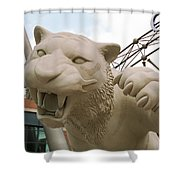 Comerica Park - Detroit Tigers Shower Curtain by Frank Romeo