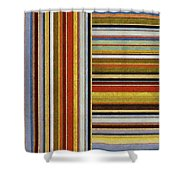 Comfortable Stripes lX Shower Curtain by Michelle Calkins