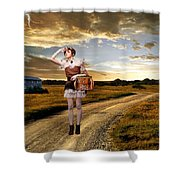 Coming Home Shower Curtain by Ester  Rogers
