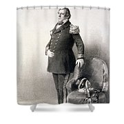Commodore Matthew Calbraith Perry Shower Curtain by Wilhelm Heine