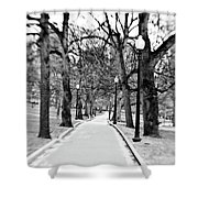 Commons Park Pathway Shower Curtain by Scott Pellegrin