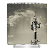 Communication Tower Shower Curtain by Marco Oliveira