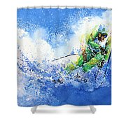 Competitive Edge Shower Curtain by Hanne Lore Koehler