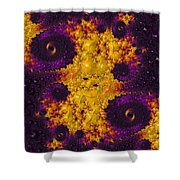 Complimentary - Yellow And Purple Shower Curtain by Heidi Smith
