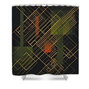 Composition 15 Shower Curtain by Terry Reynoldson