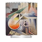Composition Shower Curtain by Viking Eggeling