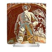 Confederate Soldier Statue I Alabama State Capitol Shower Curtain by Lesa Fine
