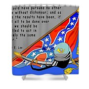 Confederate States Of America Robert E Lee Shower Curtain by Digital Creation