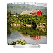 Connecticut River Farm Shower Curtain by Edward Fielding