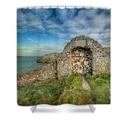 Consecrated 1535 Shower Curtain by Adrian Evans