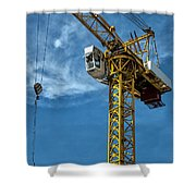 Construction Crane Asia Shower Curtain by Antony McAulay