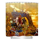 Constructors Of Time Shower Curtain by Henryk Gorecki