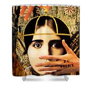 Control Shower Curtain by Desiree Paquette