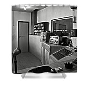 Control Room In Alcatraz Prison Shower Curtain by RicardMN Photography