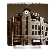 Coors Field - Colorado Rockies 20 Shower Curtain by Frank Romeo