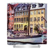 Copenhagen Shower Curtain by Jeff Kolker