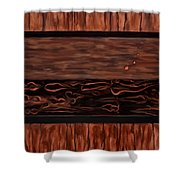 Copper Dots Shower Curtain by Michael Pickett