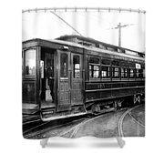 Corbin Park Street Car No. 175 - 1915 Shower Curtain by Daniel Hagerman