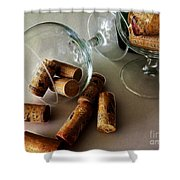 Corks 2 Shower Curtain by Cheryl Young