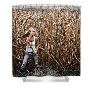 Corn Field Horror Shower Curtain by Jt PhotoDesign