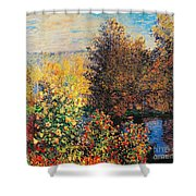 Corner Of Garden In Montgeron Shower Curtain by Claude Monet