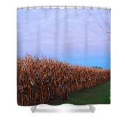 Cornfield In Autumn Shower Curtain by Luther   Fine Art