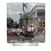Coronado Fourth Of July Parade Shower Curtain by Stephen Farley