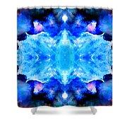 Cosmic Kaleidoscope 1 Shower Curtain by The  Vault - Jennifer Rondinelli Reilly